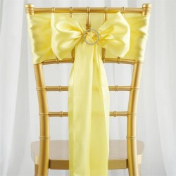 Noeud de chaise satin jaune pale