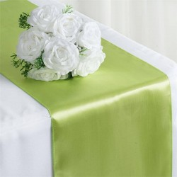 Chemin de table satin vert pomme
