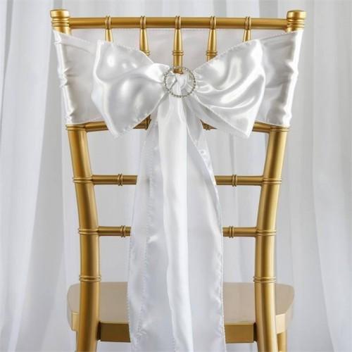 Noeud de chaise satin blanc les couleurs du mariage mariage et r ception - Noeud de chaise en satin ...