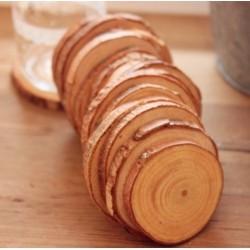Marque place rondin de bois x 10