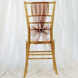 Noeud de chaise organza chocolat