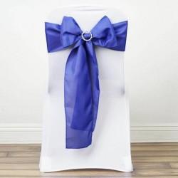 Noeud de chaise polyester bleu ciel