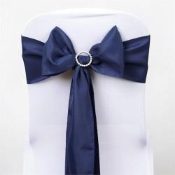 Noeud de chaise polyester bleu marine