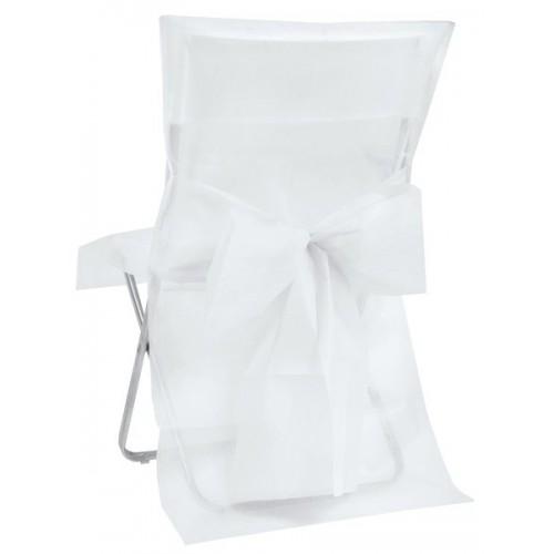 Housse de chaise blanche les couleurs du mariage - Housse de chaise blanche ...