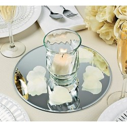 Centre de table miroir rond 15 cm