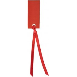 Marque place rectangulaire rouge avec ruban