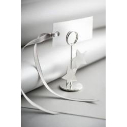 Marque place rectangulaire gris ou argent