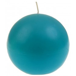 Bougie ronde turquoise