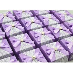Boite à dragées vintage violet