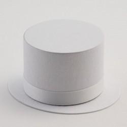 Boite à dragées haut de forme blanc