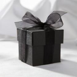 Boite à dragées carrée noire