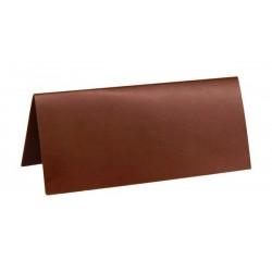 Marque place rectangulaire chocolat