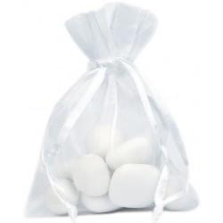 Sachet à dragées organdi blanc