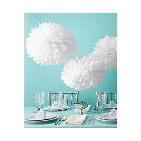 pompon en papier blanc les couleurs du mariage mariage et r ception. Black Bedroom Furniture Sets. Home Design Ideas