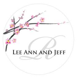 Sticker personnalisable  fleurs de cerisier par 24