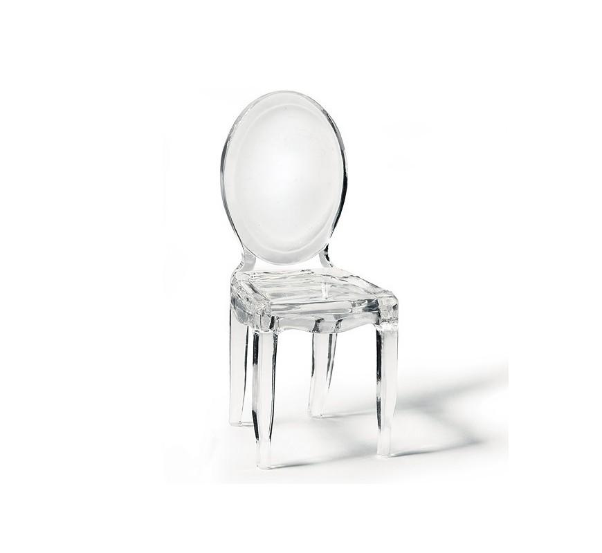 La mini chaise transparente th me boudoir - Chaise baroque transparente ...