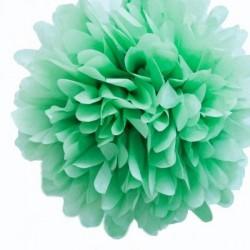 Pompon en papier menthe à l'eau