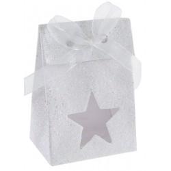 Sachet à dragées Star blanc