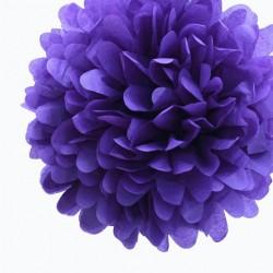 Pompon en papier violet
