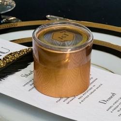 Boite à dragées art déco or