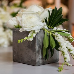 Vase imitation ciment