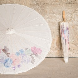Ombrelle en papier florale