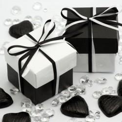 Boite à dragées noire et blanche (par 10)
