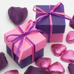 Boite à dragées violet et rose ( par 10)