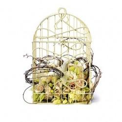 Urne de mariage cage à oiseaux
