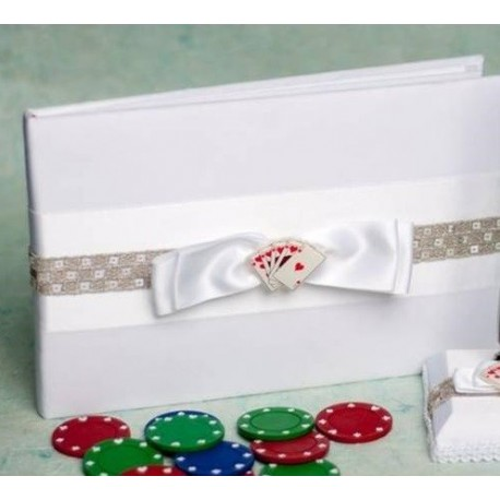 Livre d'or mariage thème casino