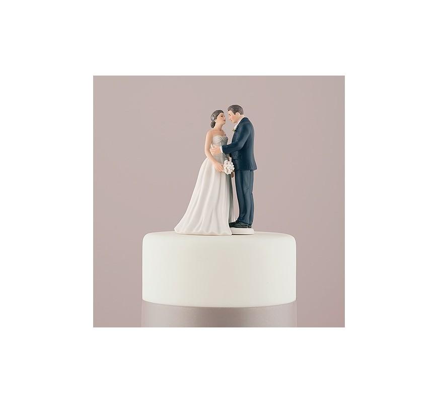 Figurine de mariage contemporaine Les Couleurs du