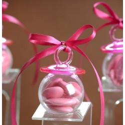 Boite à dragées tétine rose