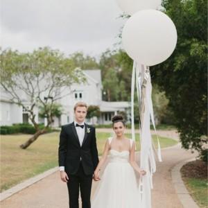 Ballon géant mariage blanc 250 cm