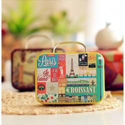 Boite à dragées valise thème paris