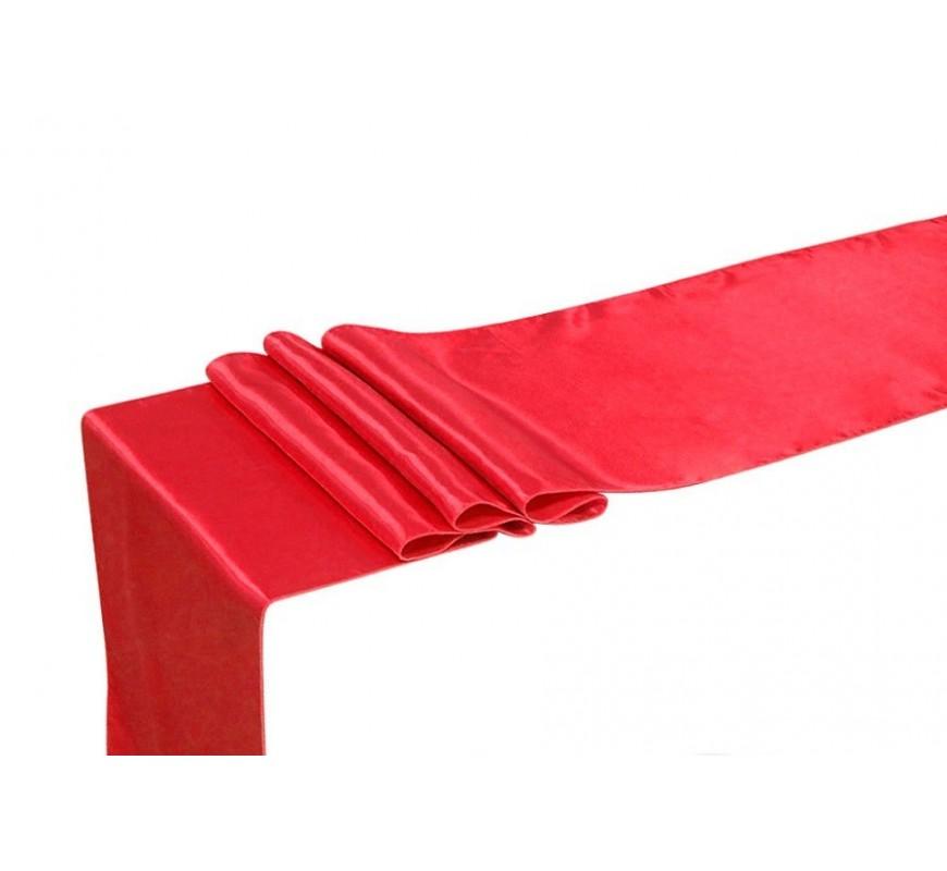 Chemin de table satin rouge les couleurs du mariage mariage et r ception - Chemin de table rouge mariage ...