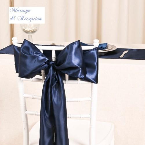 noeud de chaise satin bleu marine les couleurs du mariage mariage et r ception. Black Bedroom Furniture Sets. Home Design Ideas
