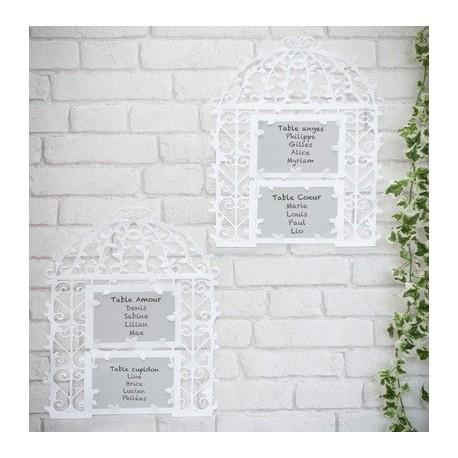 Plan de table cage oiseaux les couleurs du mariage mariage et r ception - Plan de table cage oiseau ...
