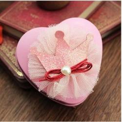 Boite à dragées coeur princesse rose
