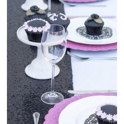 Chemin de table sequin noir