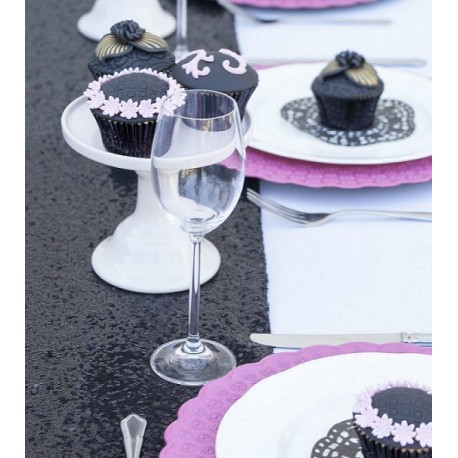 chemin de table sequin noir les couleurs du mariage mariage et r ception. Black Bedroom Furniture Sets. Home Design Ideas