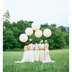 Ballon géant ivoire 250 cm