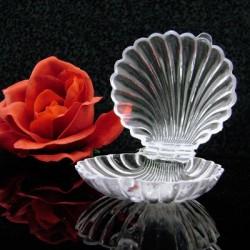 Boite à dragées coquillage transparent