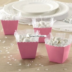 Pot à bonbons candy bar rose