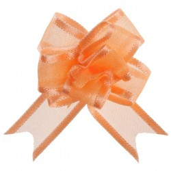 Mini noeud organza corail