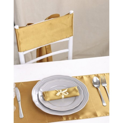 Chemin de table satin or