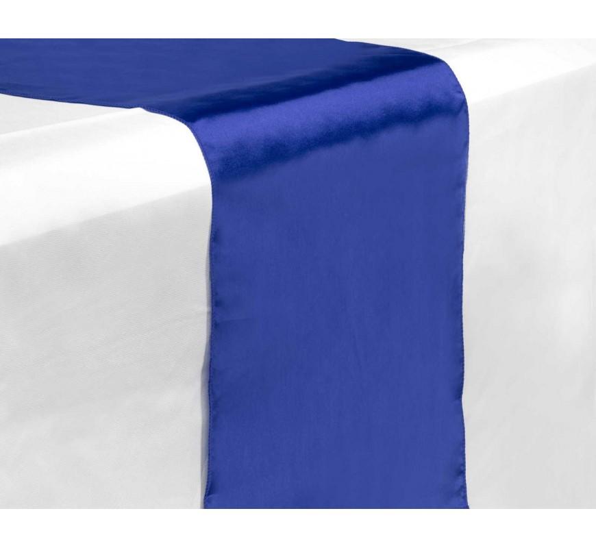 Chemin de table satin bleu roi les couleurs du mariage for Chemin de table bleu