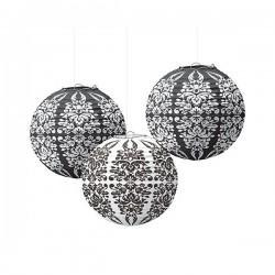 Lanterne papier baroque par 3