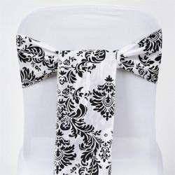 Noeud de chaise baroque blanc et noir