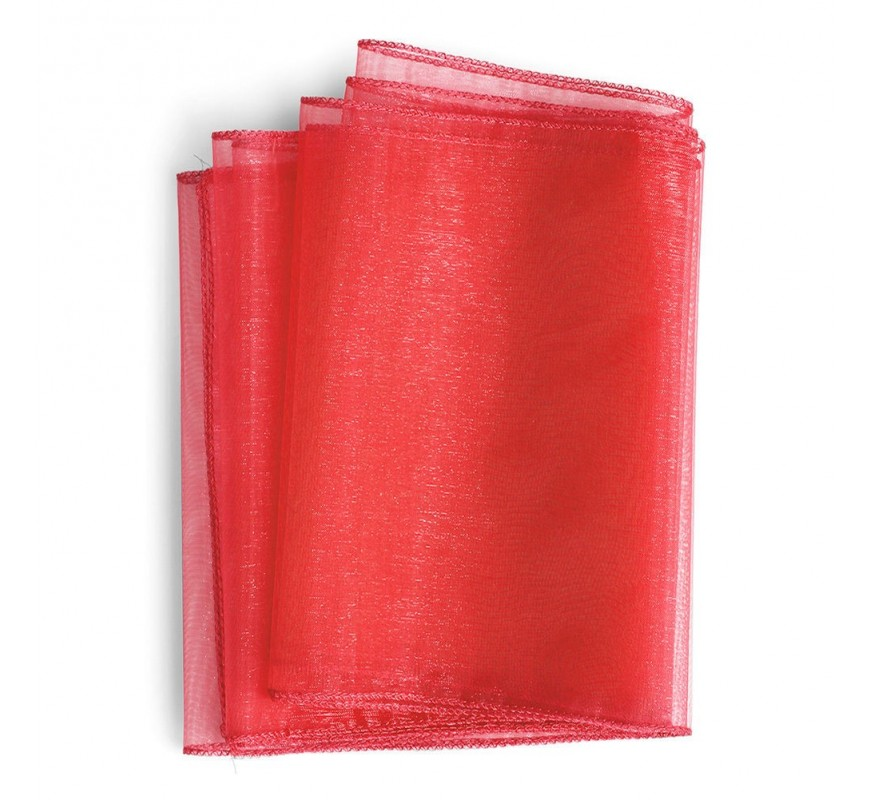 Chemin de table organza rouge les couleurs du mariage for Chemin de table rouge