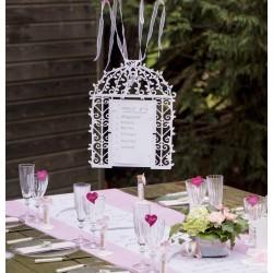 Contenant drag es cage oiseaux les couleurs du mariage mariage et r c - Plan de table cage oiseau ...